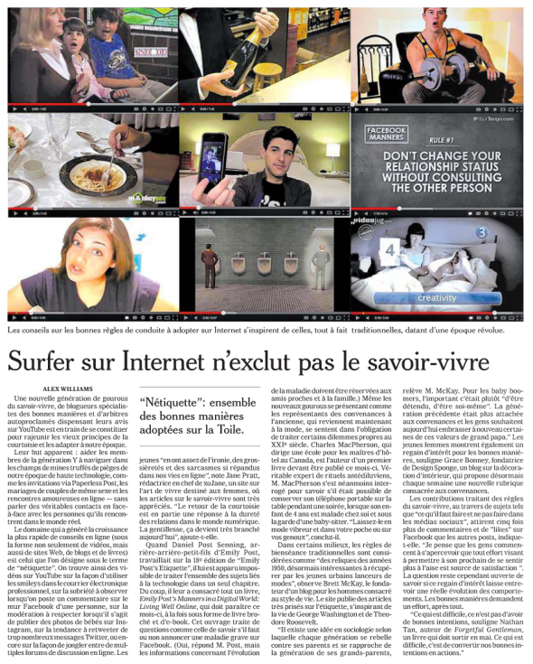 © The New York Times dans Le Figaro - 23/4/13